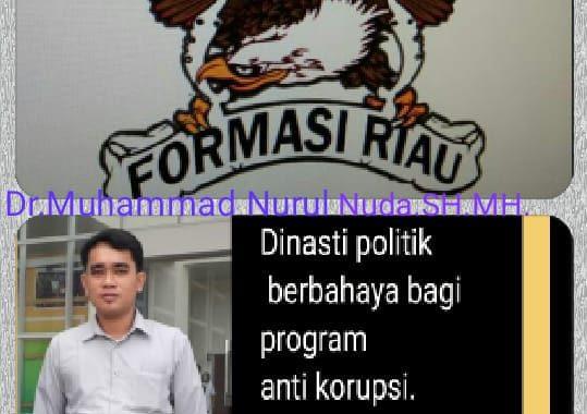 Pesan Formasi Riau Ke Jajaran Pejabat, Jabatan Jangan Dijadikan Dinasti Politik.