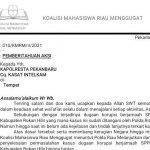 Bupati Rohil Dilantik Disambut Aksi KMRM Terkait SPPD Fiktif Massal
