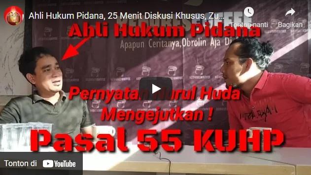 Ahli Hukum Pidana, 25 Menit Diskusi Khusus, Zulpen Bersama M Nurul Huda